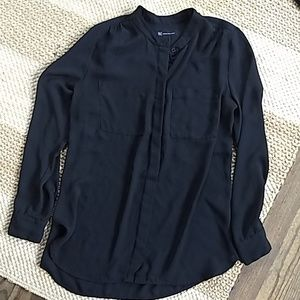 Inc black camp shirt